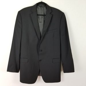 Calvin Klein Slim Fit Black Men wool Blazer 44 L